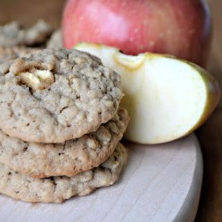 Apple Peanut Butter Oatmeal Cookies
