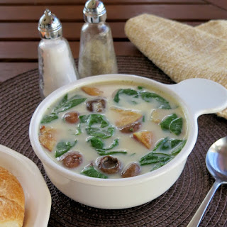 Roasted Potato and Spinach Soup #SundaySupper