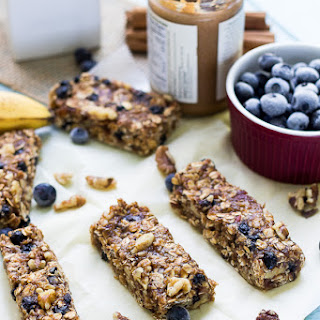Bananas Foster Oatmeal Breakfast Bars.
