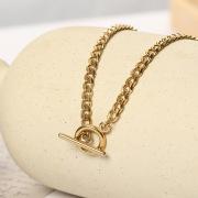 New Fashion Simple Titanium Steel Necklaces OT Buckle without Pendants Necklace Choker Women's Jewelry Factory Wholesale