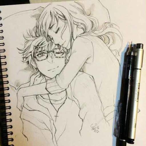 Drawing Anime Couple Ideas screenshots 2