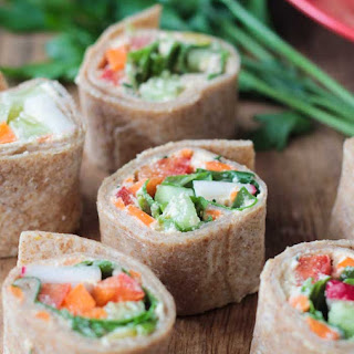 Tortilla Rollups with Dairy Free Veggie Cream Cheese