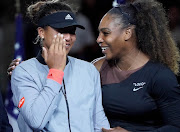 A file photo of Serena Williams comforting Naomi Osaka during the trophy ceremony at the US Open women's final. The Japanese sensation Osaka has promised to speak her mind more going forward.