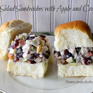 Turkey Salad Sandwiches with Apple and Cranberries