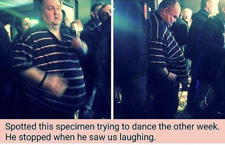 Cyber Bully Mocks Dancing Man's Weight, But Insults Completely Backfire