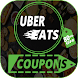 Coupons For Uber Eats-Food Delivery-promo codes