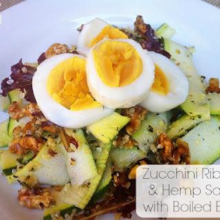Zucchini Ribbon & Hemp Salad with Boiled Eggs.