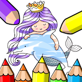 Mermaid Coloring for Kids