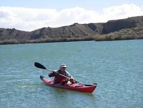 Photo: Rudi nears the take out on Squaw Lake.