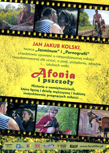 Tył ulotki filmu 'Afonia i Pszczoły'