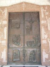 Photo: Iglesia de la Anunciación en Nazaret (puerta de broce con escenas de la vida de Jesucrito)