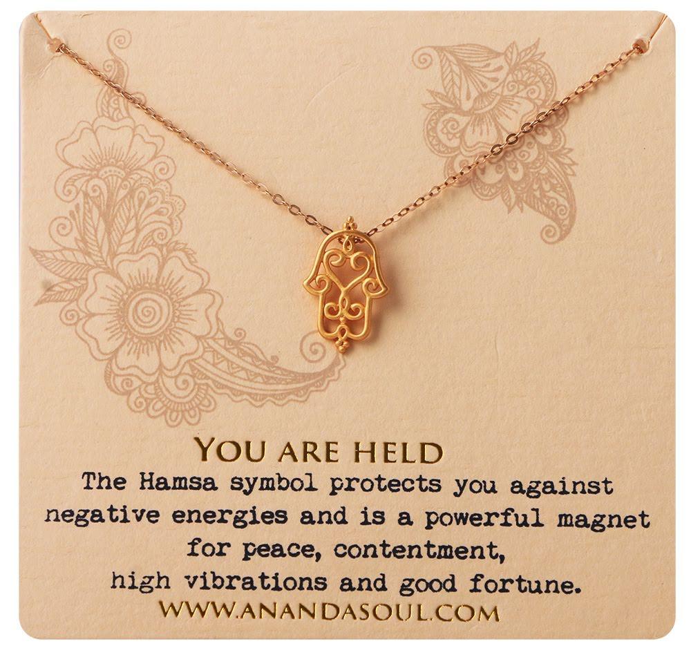 Ananda soul, You are held halsband guldpläterad mässing