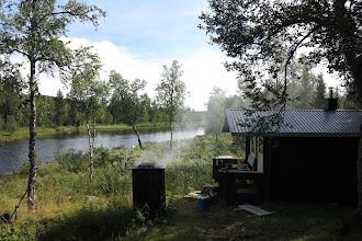 Photo: Rök- och badställen