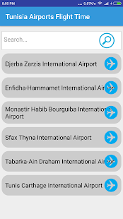 Tunisia Airports Flight Time - náhled