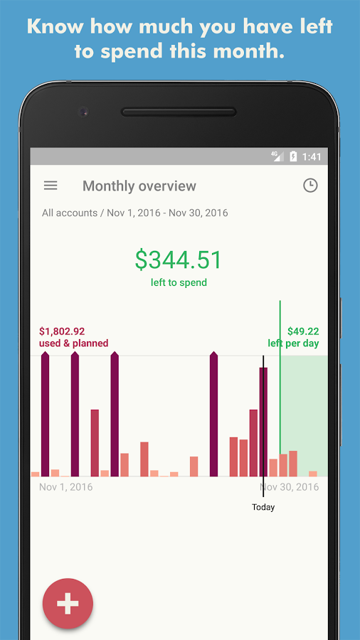 Toshl Finance - expense tracker & budget manager- screenshot