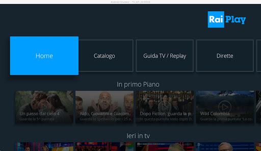 RaiPlay per Android TV 3.0.5 screenshots 1