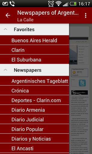 アルゼンチンの新聞