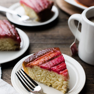Rhubarb Upside-Down Cake.