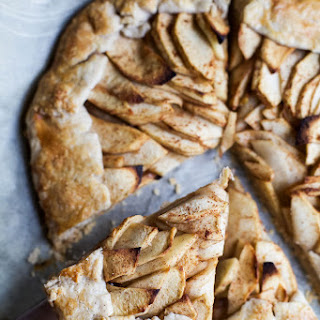 Gluten Free Apple Galette with Maple Cinnamon Mascarpone
