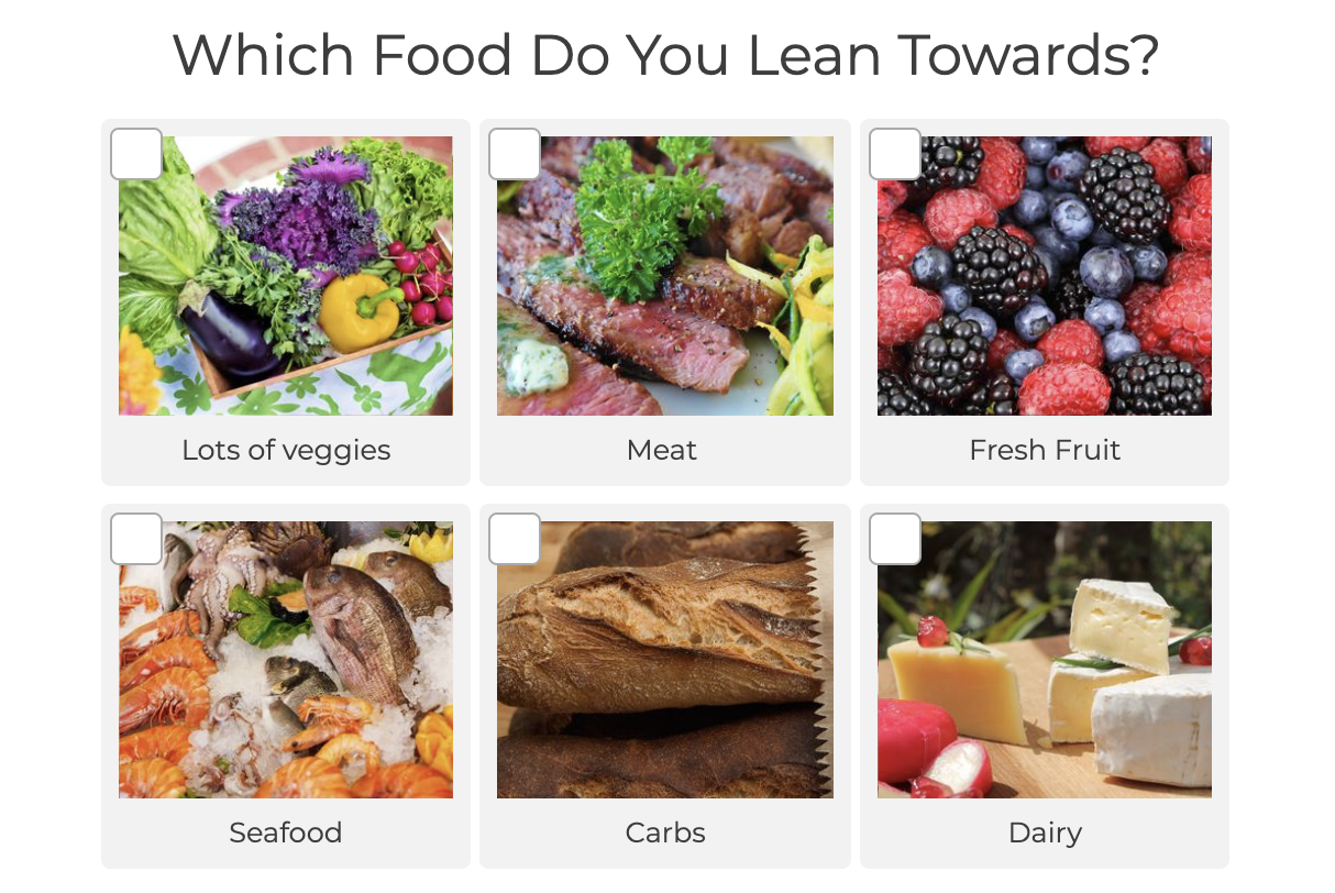 what food do you lean towards quiz question