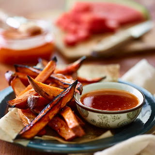 Watermelon Glazed Sweet Potatoes