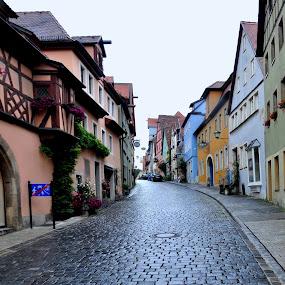 Rothenburg ob der Tauber, Germany by Albina Jasinskaite - City,  Street & Park  Neighborhoods (  )