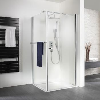 Duschkabinen_Exklusiv Drehtür mit Seitenwand