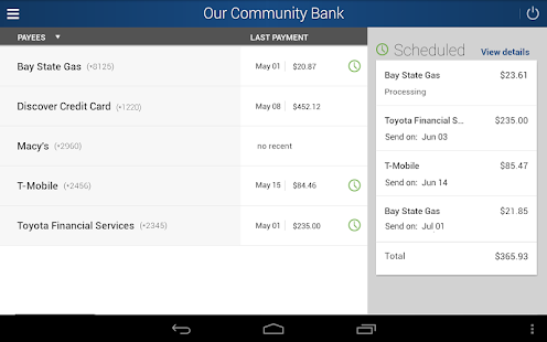 Our Community Bank- screenshot thumbnail