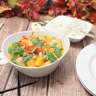 Shrimp Panang Curry with Pumpkin.