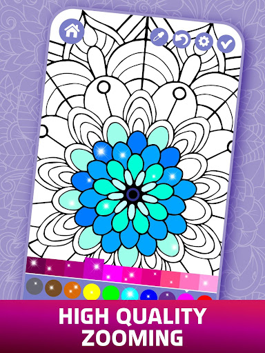 Relaxing Adult Coloring Book apkpoly screenshots 2