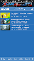 Screenshot of WDRB Weather App