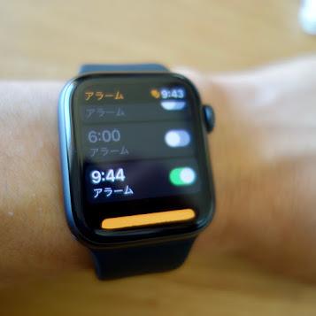 Apple Watch Series 4 アラームアプリ