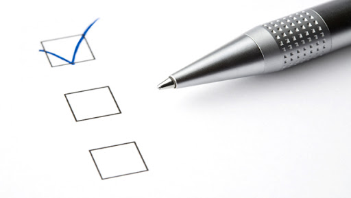 Questionnaire and pencil