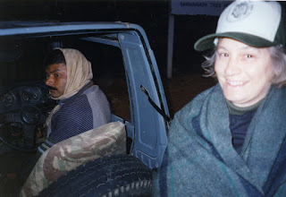 Photo: In the dark at dawn at Bandhavgarh waiting for the Park gates to open 2002
