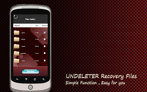 Undeleter Recover Files screenshot 1