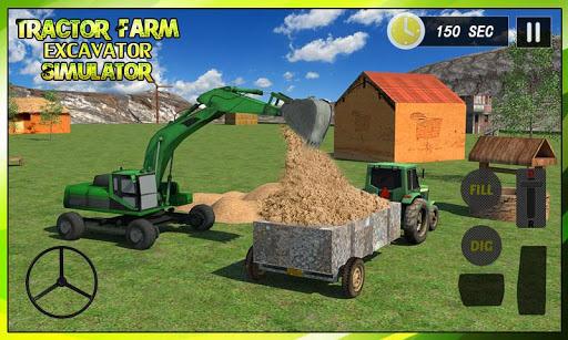 트랙터 농장 및 굴삭기 심