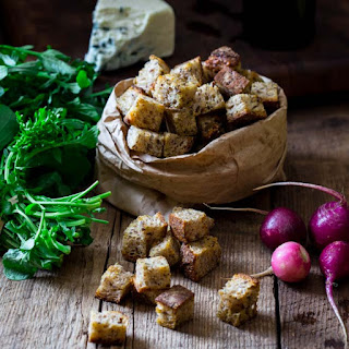 Simple Home-made Croutons.