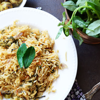 Methi Biryani-Fenugreek Leaves Rice