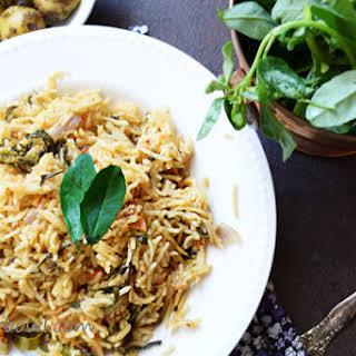 Methi Biryani-Fenugreek Leaves Rice.