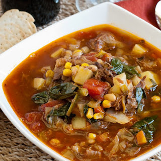 Hearty Beef Vegetable Soup.