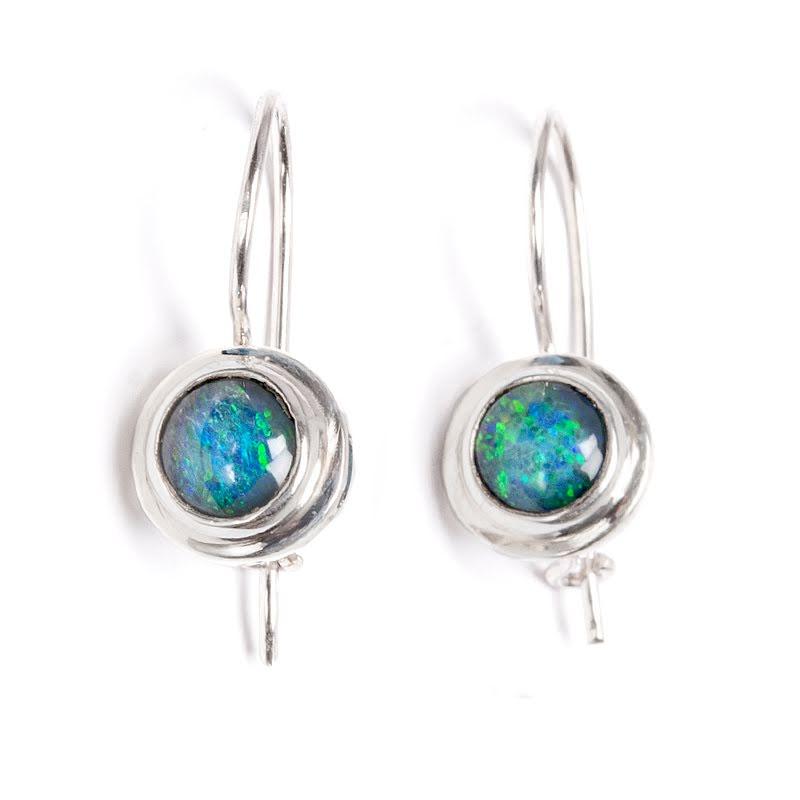 Opal, örhängen på krok