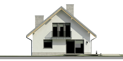 Dom przy Cyprysowej 12 N - Elewacja tylna