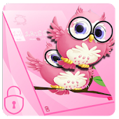 Pink anime cute owl theme