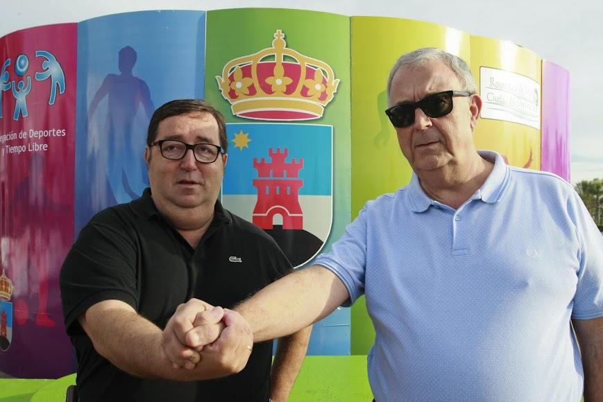 Guillermo Blanes, otro grande del deport, con Rubí