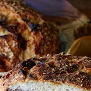 Sourdough Barley Bread with Figs and Pecans.