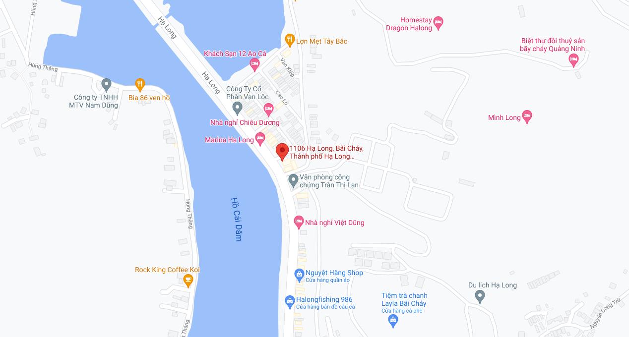 Địa điểm đón/trả khách tại Quảng Ninh: Văn phòng Hạ Long