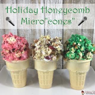 "Holiday Honeycomb® Micro""cones""."