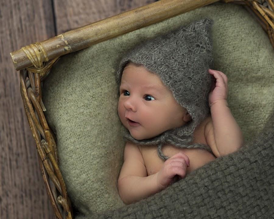by Jude Stewart - Babies & Children Babies ( blanket, wicker, warm, wood, prop, brown, baby, newborn, mohair )