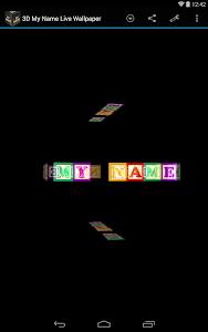 3D My Name Live Wallpaper screenshot 9