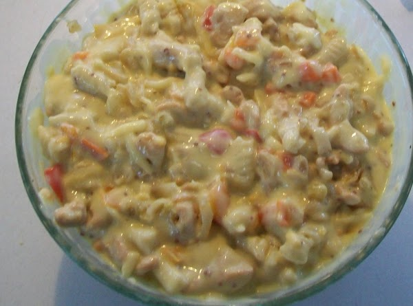 Mix the soup, the pasta water & mustard with the ½ & ½ and...